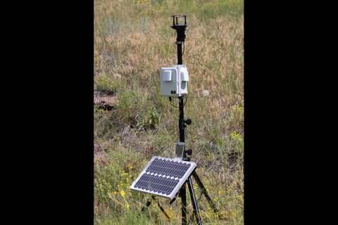The Space Canary sensor developed by Lunar Outpost Inc. can detect the ultra-fine lunar dust particles inside a habitat, alerting astronauts should an elevated level of contamination occur. Adapted for use on Earth, the same technology, now renamed the Canary-S, can monitor forest fire emissions, evaluate urban air quality, and more. (Lunar Outpost)