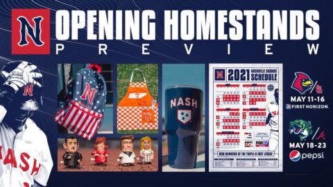 Nashville Sounds Begin 2021 Home Slate With 12-Game, 13-Day Double Homestand. (Nashville Sounds)