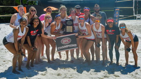 Ohio Valley Conference Beach Volleyball Champions, Austin Peay State University. (APSU Sports Information)