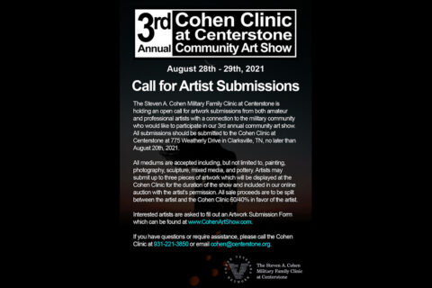 3rd Annual Community Art Show to be held in August.