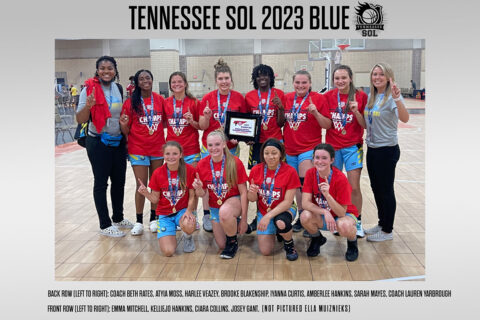 AAU Girls Basketball 2021 Tennessee State Champions Tennessee Sol 2023 Blue