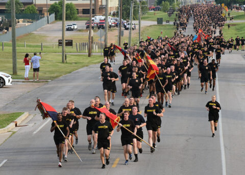 The 101st Airborne Division held annual Week of the Eagles Division Run ont June 21st–25th, at Fort Campbell. (Courtesy Photo, 101st Airborne Division (Air Assault))