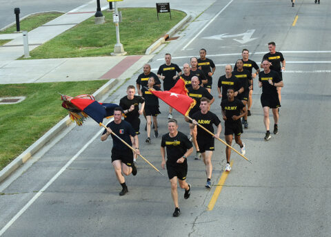 The 101st Airborne Division held the annual Week of the Eagles Division Run on June 21st–25th, at Fort Campbell. (Courtesy Photo, 101st Airborne Division (Air Assault))