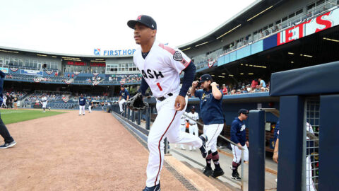 Nashville Sounds' Corey Ray Doubles Twice, Drives in a Run in loss to Charlotte Knights. (Nashville Sounds)
