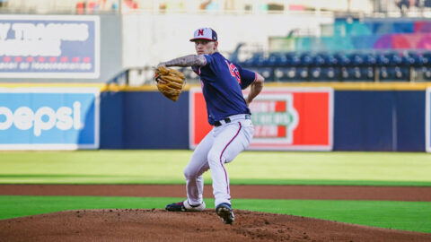 Nashville Sounds right handed pitcher Bowden Francis Limits Louisville Bats to Two Runs in 5 2/3 Innings. (Nashville Sounds)