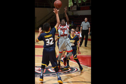 AAU tournament play at Austin Peay State University in Clarksville during the boys championships in 2016.