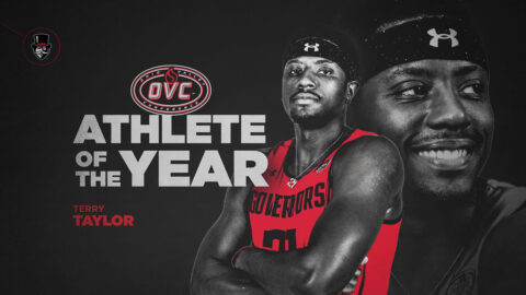 Austin Peay State University men's basketball start Terry Taylor has been named the 2020-21 Ohio Valley Conference Male Student-Athlete of the Year. (APSU Sports Information)