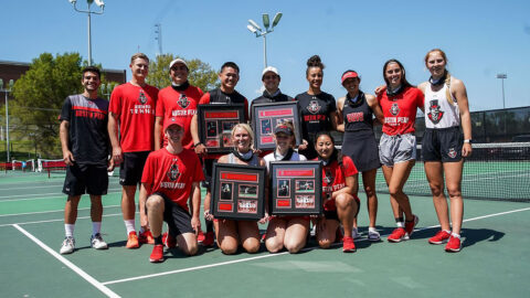 Austin Peay State University Men's and Women's Tennis teams receive regional ITA Community Service honors. (APSU Sports Information)
