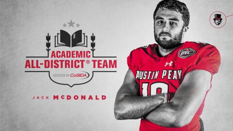 Austin Peay State University Football linebacker Jack McDonald named CoSIDA Academic All-District. (APSU Sports Information)