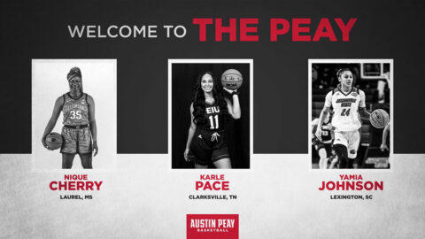Austin Peay State University Women's Basketball adds Nique Cherry, Karle Pace and Yamia Johnson to 2020-21 roster. (APSU Sports Information)