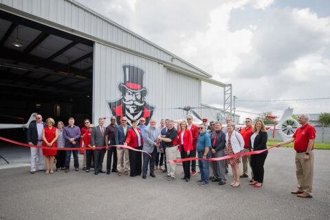 Austin Peay State University ribbon cutting ceremony for the new Aviation Science Facility. (APSU)