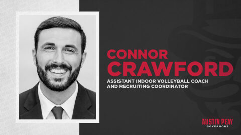 Connor Crawford named Austin Peay State University Indoor Volleyball Assistant Coach, Recruiting Coordinator. (APSU Sports Information)
