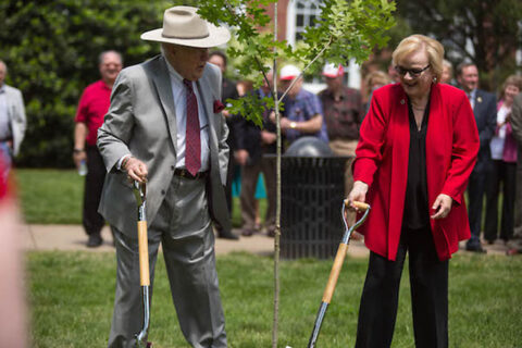 In 2017, Evans Harvill planted a tree in what is now the Austin Peay State University Harvill Quad. (APSU)