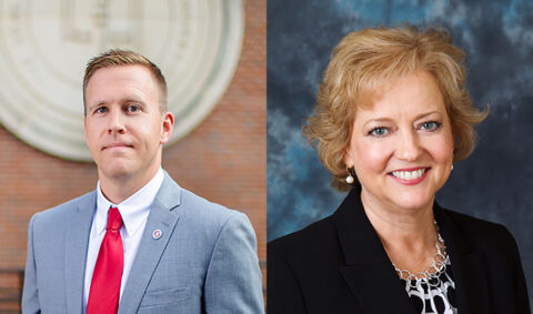 Austin Peay State University's Dr. Prentice Chandler and Dr. Lisa Barron. (APSU)