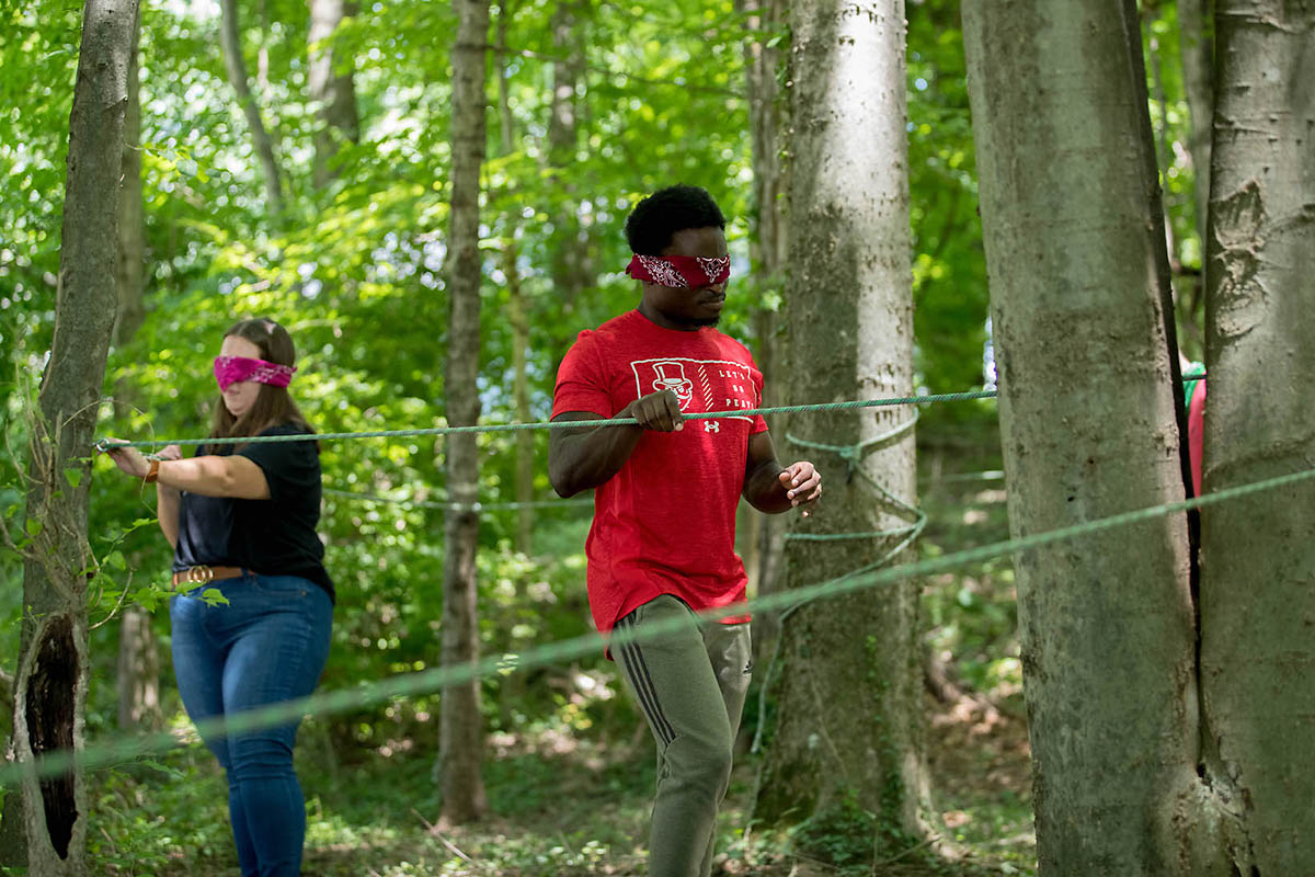 Austin Peay State University team building ropes course. (APSU)