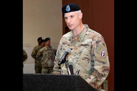 U.S. Army Medical Department Activity Fort Campbell and Blanchfield Army Community Hospital commander Col. Vincent B. Myers.