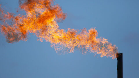 Gas flaring during oil and gas production is a known source of methane emissions. (Leslie Von Pless)