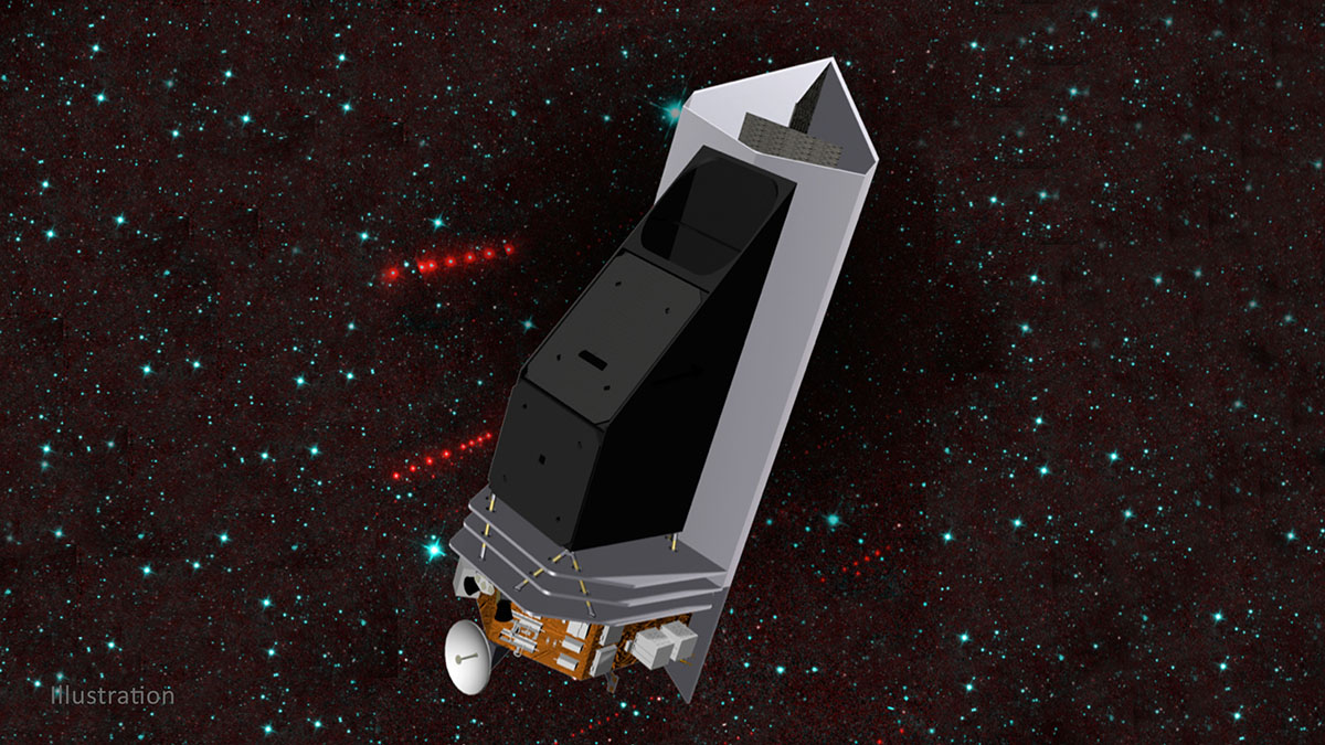 NEO Surveyor is a new mission proposal designed to discover and characterize most of the potentially hazardous asteroids that are near the Earth. (NASA/JPL-Caltech)