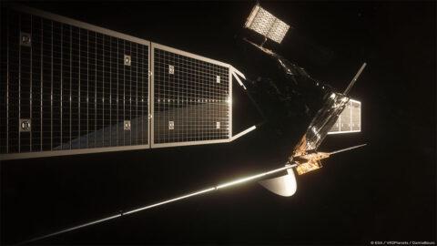 Artist rendering of ESA's EnVision spacecraft. (European Space Agency/Paris Observatory/VR2Planets)
