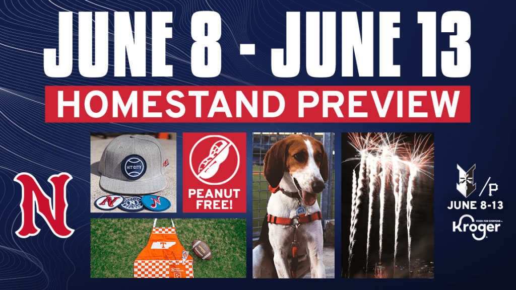 Homestand Highlighted by First Tito's Tail Waggin' Tuesday and Friday Fireworks. (Nashville Sounds)