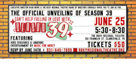 Official Unveiling of SEASON 39 at the Roxy Regional Theatre set for June 25th