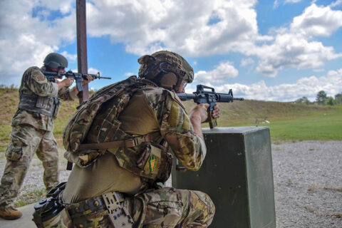 Members of the Tennessee National Guard compete at the TAG Match, June 27th, at Tullahoma's Volunteer Training Site. The TAG Match is an annual marksmanship competition and training event that is hosted by the Tennessee Combat Marksmanship Program. (Sgt. 1st Class Timothy Cordeiro)