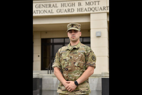 Sgt. 1st Class Timothy Cordeiro, a public affairs mass communications specialist with Nashville's 118th Mobile Public Affairs Detachment, was promoted at the Tennessee National Guard's Joint Force Headquarters on June 6th. (submitted photo)