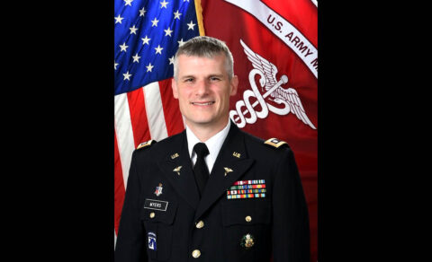 Col. Vincent B. Myers, shown here in 2017 while serving as Commander, McDonald Army Health Center, Fort Eustis, Virginia, is scheduled to assume duties as U.S. Army Medical Department Activity - Fort Campbell, Kentucky and Blanchfield Army Community Hospital Commanding Officer from Col. Patrick T. Birchfield during a change of command ceremony June 28th. (U.S. Army)