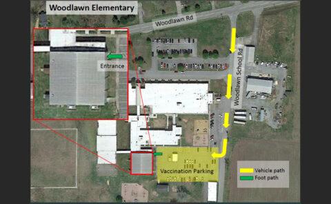 Woodlawn Elementary Map