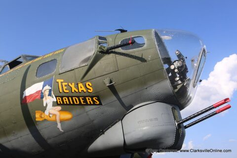 B17 Flying Fortress, Texas Raiders, one of four still flying in the United States