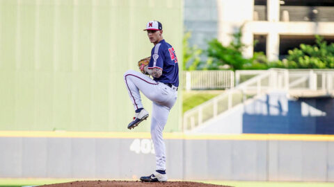 Nashville Sounds Right-Hander Bowden Francis Throws Six Innings of One-Run Ball, Collects Two Hits at the Plate. (Nashville Sounds)