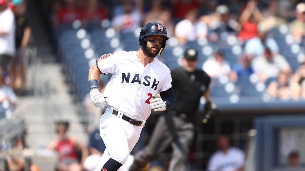 Nashville Sounds outfielder Weston Wilson crushes Three-Run Homer in the Seventh Inning in victory over Gwinnett Stripers. (Nashville Sounds)