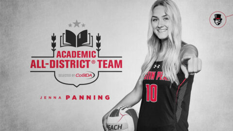 Austin Peay State University Beach Volleyball's Jenna Panning named to CoSIDA Academic All-District® At-Large Team. (APSU Sports Information)