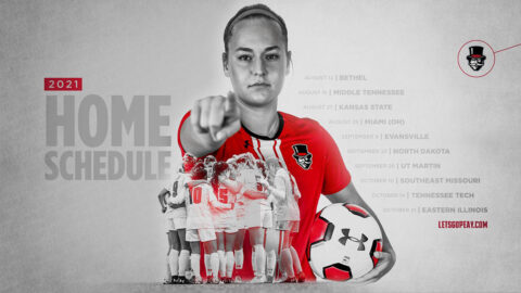Austin Peay State University Women's Soccer's 2021 Home Schedule. (APSU Sports Information)