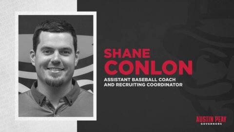 Austin Peay State University Baseball Assistant Baseball Coach, Recruiting Coordinator Shane Conlon. (APSU Sports Information)