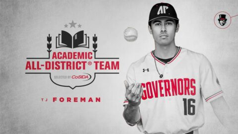 Austin Peay State University Baseball's TJ Foreman named to Academic All-District® Baseball Teams. (APSU Sports Information)