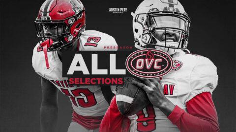 Austin Peay State University Football's Draylen Ellis, Kordell Jackson sweep OVC Preseason Awards. (APSU Sports Information)