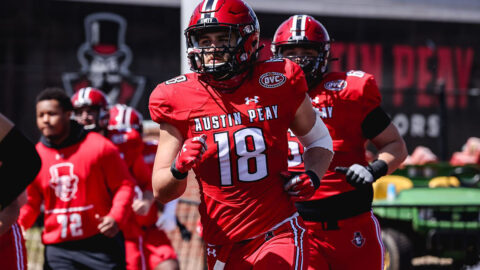 Austin Peay State University Football linebacker Jack McDonald nominated for the 2021 Allstate AFCA Good Works Team. (APSU Sports Information)