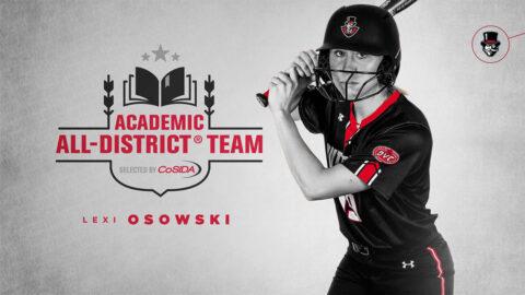 Austin Peay State University Softball junior Lexi Osowski named to CoSIDA Academic All-District® Team. (APSU Sports Information)
