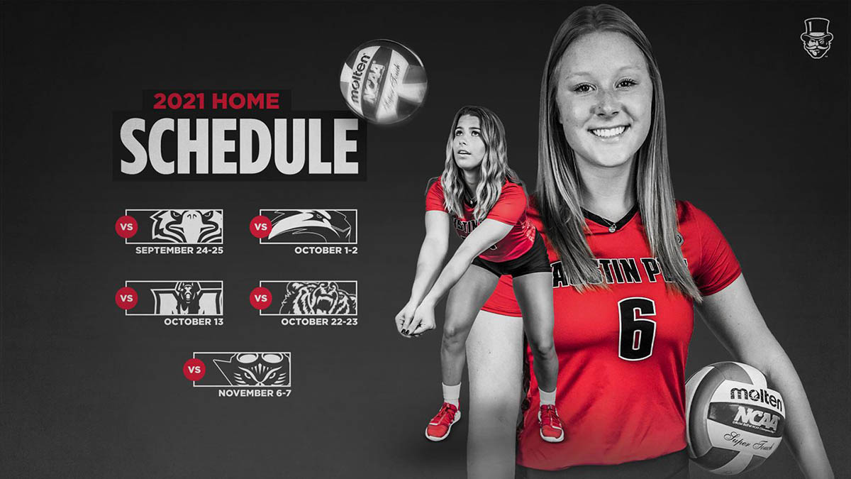 Austin Peay State University Women's Volleyball has 31 games in 2021 Fall Schedule. (APSU Sports Information)