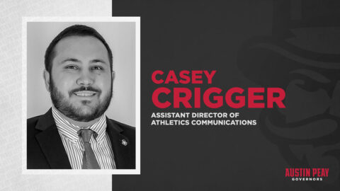 Austin Peay State University Assistant Director of Athletics Communications Casey Crigger. (APSU Sports Information)