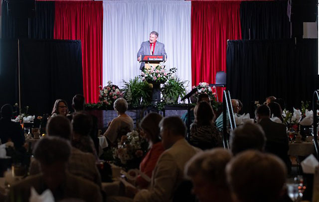 Austin Peay State University President Mike Licari at the What If Campaign closing celebration in June. (APSU)