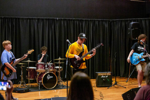 The newly formed band RACA performs at the end of the Austin Peay State University Community School of the Art's first-ever rock band camp. (APSU)