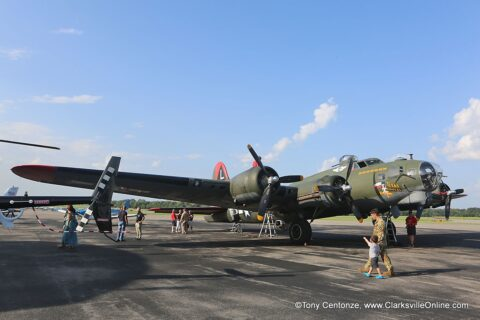 Commemorative Air Force, Gulf Coast Wing's B17 Flying Fortress at Clarksville Regional Airport