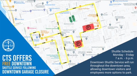 Downtown Transit Route Graphic