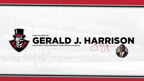 From the Desk of Gerald J. Harrison. (APSU Sports Information)