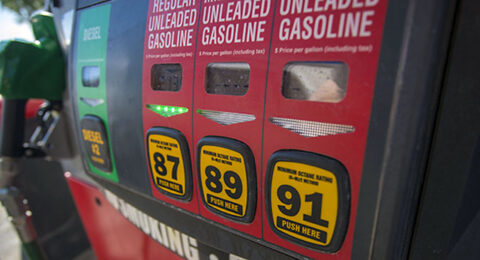 Gas prices at the pump dip this week. (AAA)