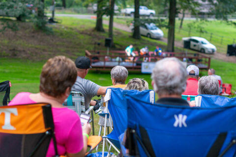 Fans enjoy music on the grounds at Historic Collinsville Pioneer Settlement at 2019's Southside Summer Nights. (Stephen Schlegel)