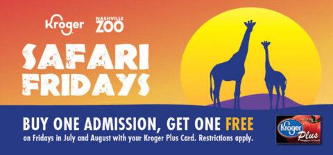Kroger Safari Fridays at the Nashville Zoo.