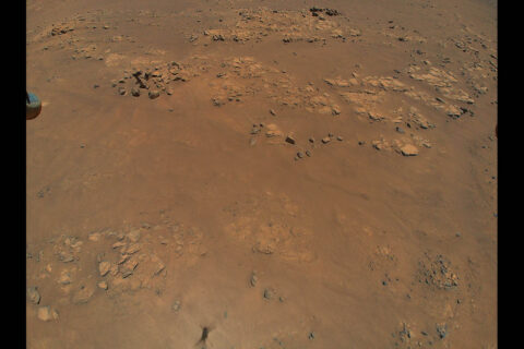 """NASA's Ingenuity Mars Helicopter spotted this location, nicknamed """"Raised Ridges,"""" during its ninth flight, on July 5. Scientists hope to visit """"Raised Ridges"""" with the Perseverance rover in the future. (NASA/JPL-Caltech)"""